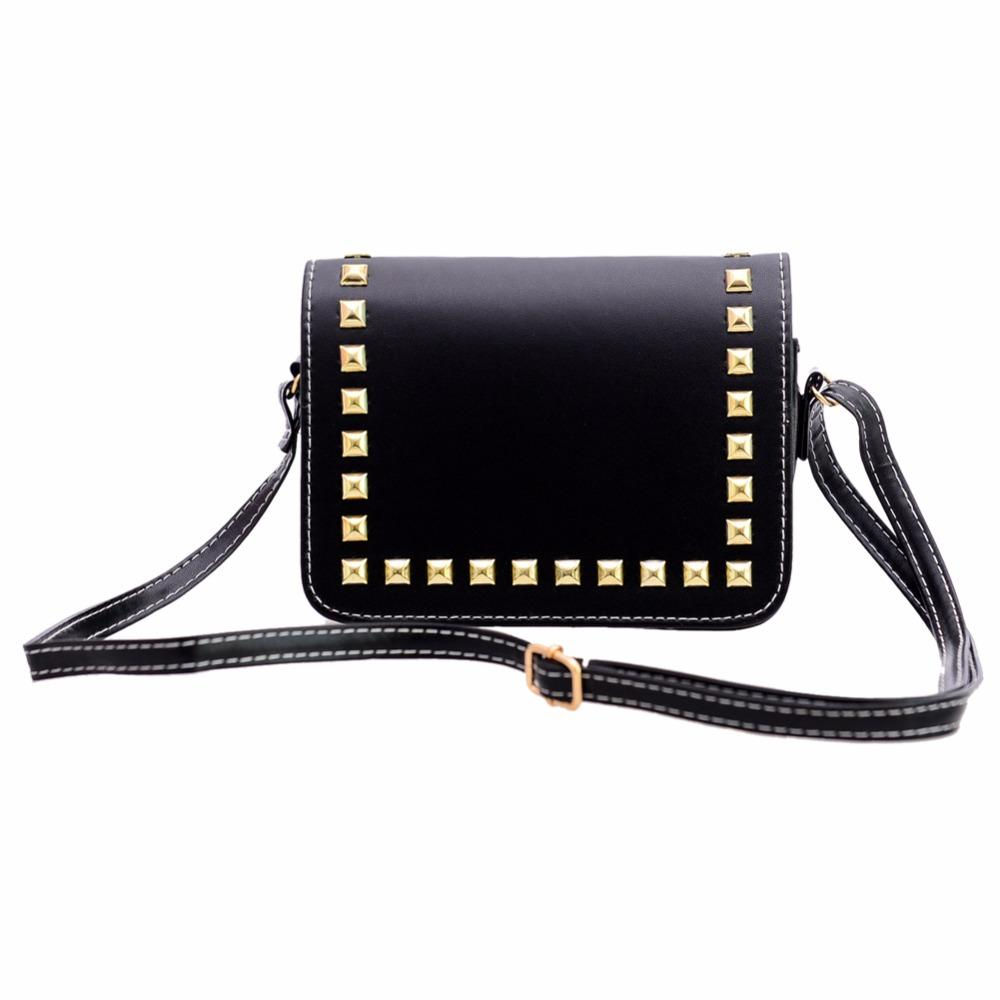 c850aa5d63b5 Wholesale-Fashion Women Bags Rivet PU Leather Ladies Handbag Female ...