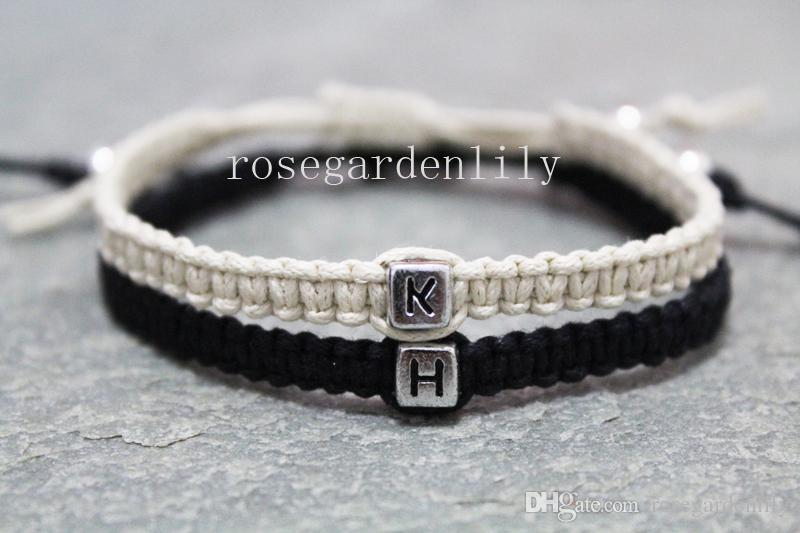 Custom Initials Couple Bracelets His And Hers Valentines