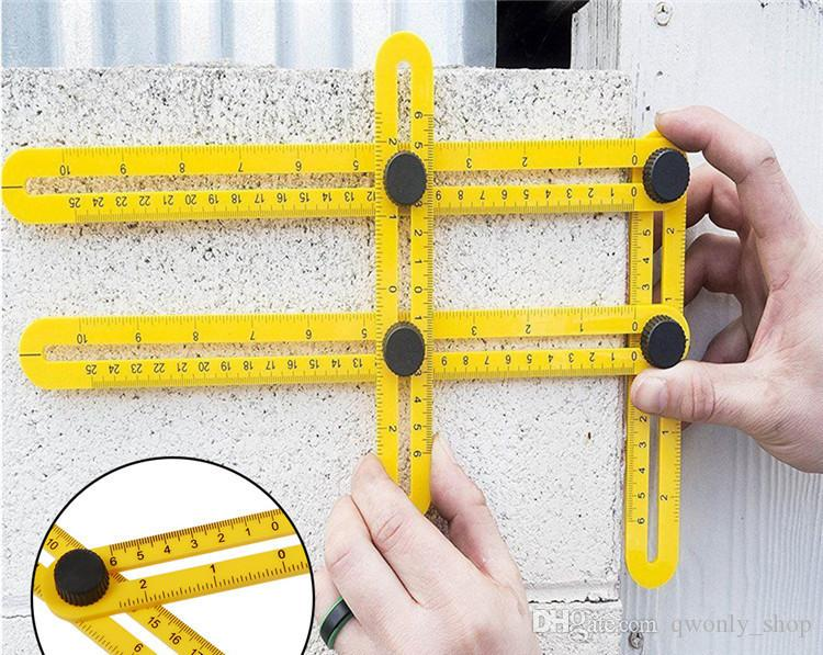 Angle-izer Angle Measure Multi-Angle Ruler Template Tool Measures All Angles Forms Angle-izer for Handymen Builders Craftsmen Repetitive
