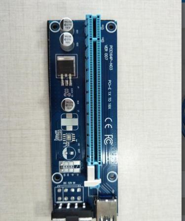 la función más nueva Tarjeta adaptadora de extensión vertical Riser 1X A 16X PCI-E PCIE E con cable USB de 60 cm de potencia para Bitcoin