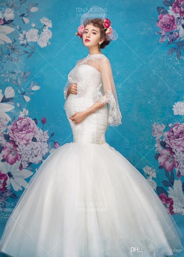 Nouvelle Maternité Photographie Robe Props Vêtements Pour Femmes Enceintes Châle + Robe Vêtements De Grossesse Photo Portrait Fishtail Longue Culottes gratuit s