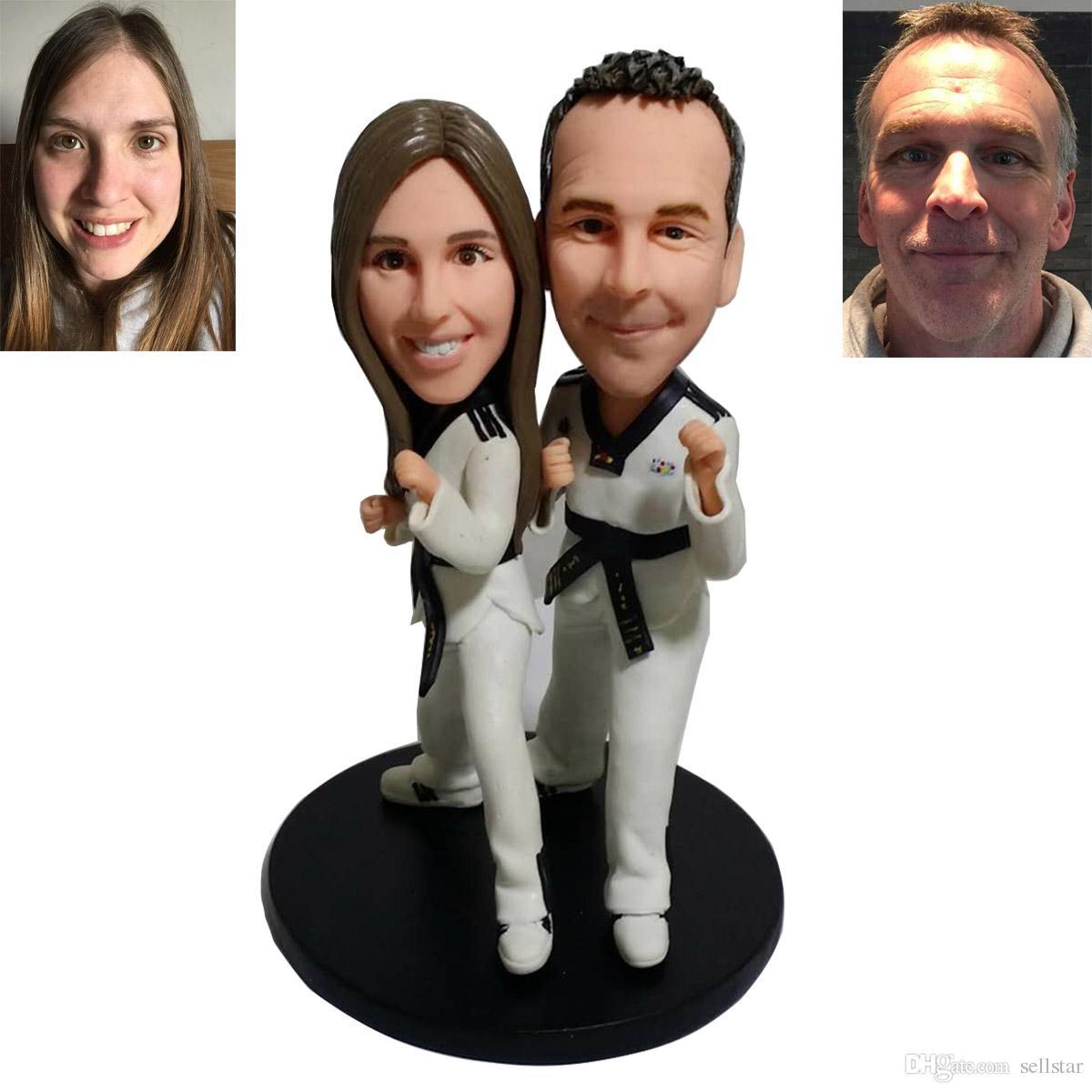 Personalized Wedding Cake Toppers Custom Made Clay Taekwondo Bride ...