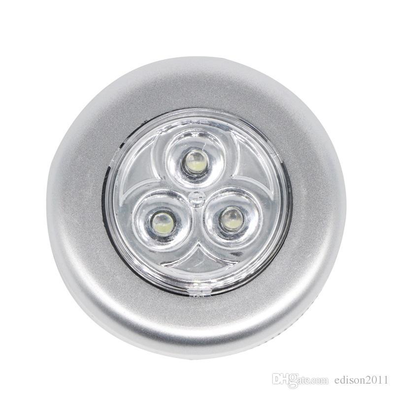 Edison2011 핫 미니 3 LED 무선 배터리 전원 스틱 탭 터치 램프 홈 밤 전구 모션 감지 램프 뜨거운 판매