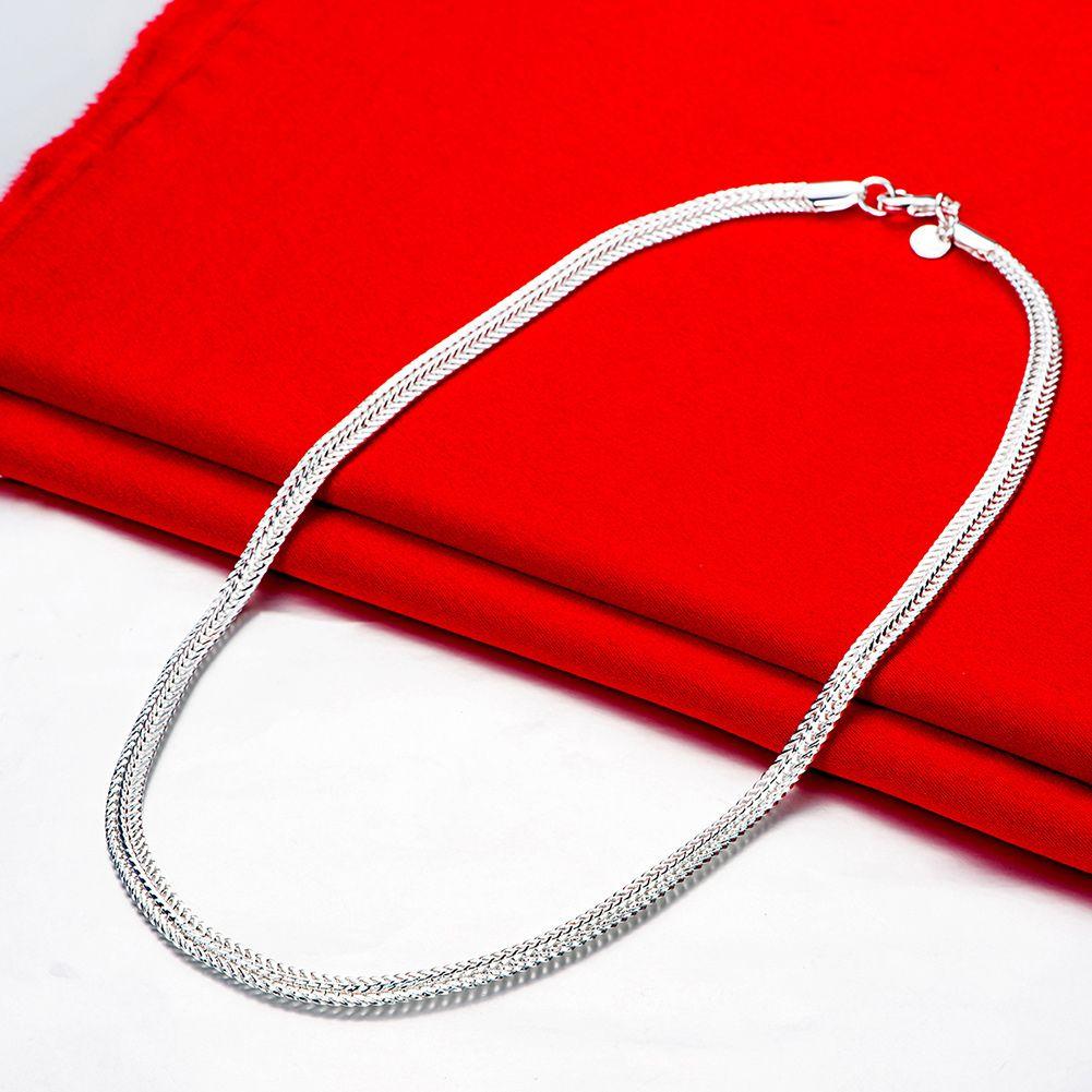 / Livraison gratuite plaqué argent unisexe lien collier bijoux LKNSPCN881