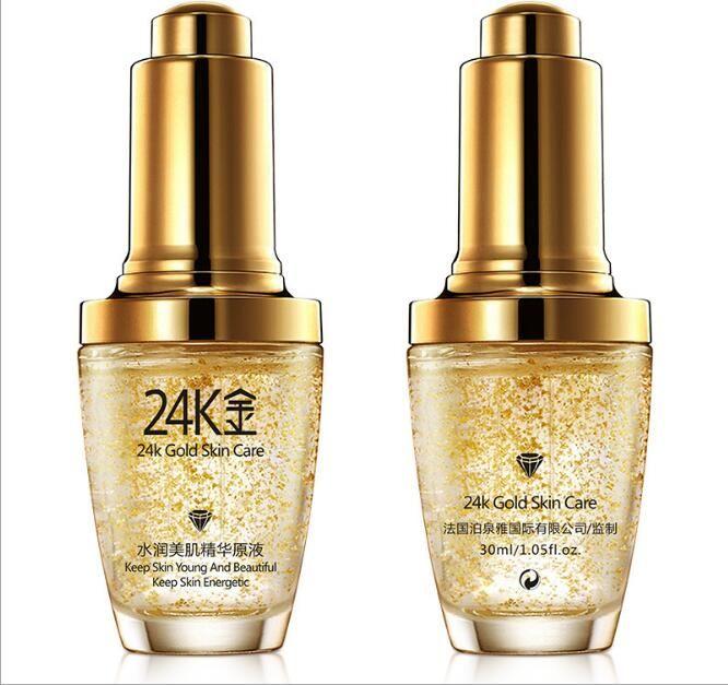 24 K Gold Face Day Cream Blanqueamiento Hidratante Mujeres Cara Cuidado de la piel 30 ml envío libre dhl