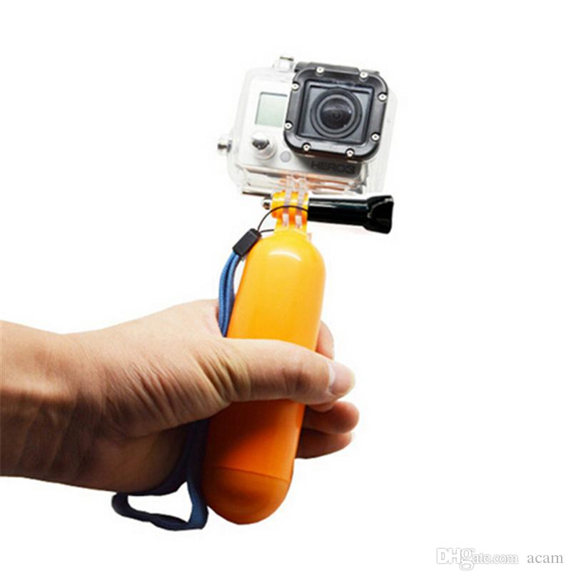 4K Wifi Action Camera Accessories Sports Camera Kit Float Bobber Handheld Stick + Chest Belt + Head Strap Free DHL
