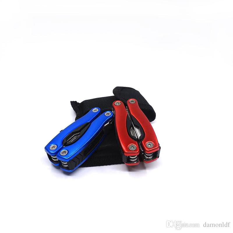 Portable Multi Function Folding Pocket Tools Pliers Multi-Use Combination Stainless Steel Folding Pliers With Nylon Bag Handle Tool