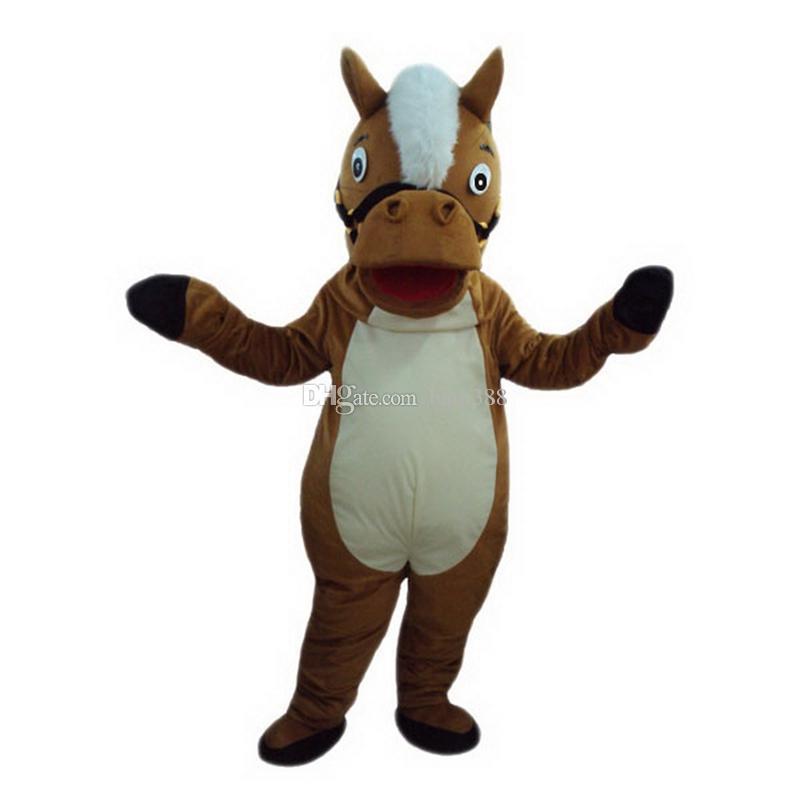 Mascotte di asino a cavallo Personaggio dei cartoni animati Formato adulto Longteng TM 02