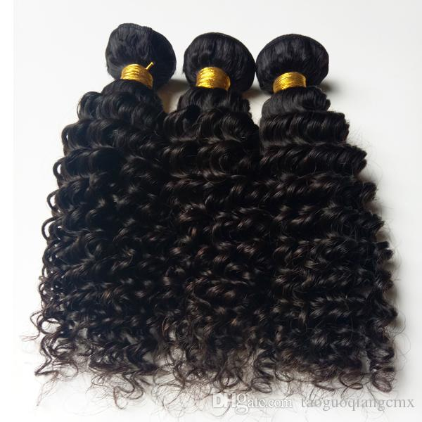 Brazilian virgin human hair weft kinky curly 8-30inch Malaysian Indian remy hair 3 4 Unprocessed African American hair Best Quantity