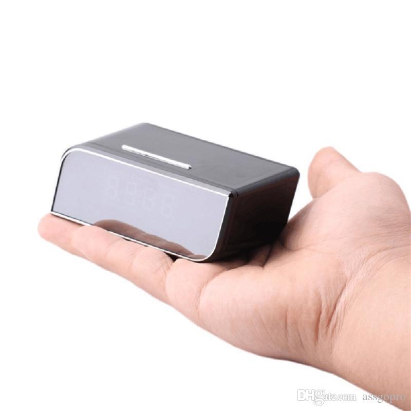 1080P WIFI Camera Super Alarm Clock Network Camcorder Mini Clock Camera Nanny Cam Video Recorder Remote Control by APP Real-time Viewing