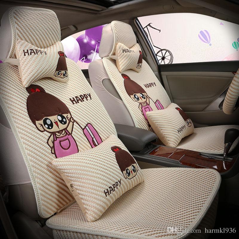 Cartoon Car Seat Cover All Inclusive Ladies Special Cushion Four ...