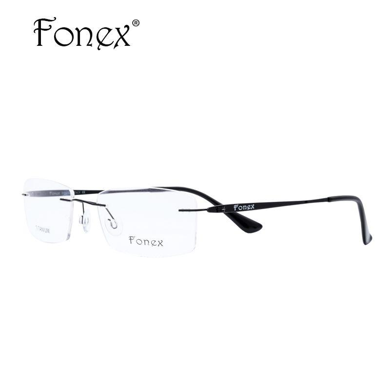 b1ddcc684a Wholesale- 2017 High Quality Men Rimless Glasses Memory Titanium ...