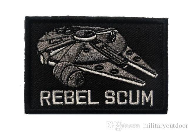 VP-127 3,15 * 2 pouces patches brodés 3D REBEL SCUM tactique patches Badge badges en plein air recoudre jeu patch correctif
