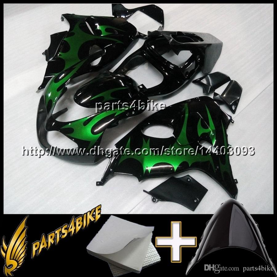 23colors+Gifts GREEN FLAMES TL1000R 98 99 2000 01 02 motorcycle Fairing for Suzuki TL1000 R 1998 1999 2000 01 02 ABS plastic kit