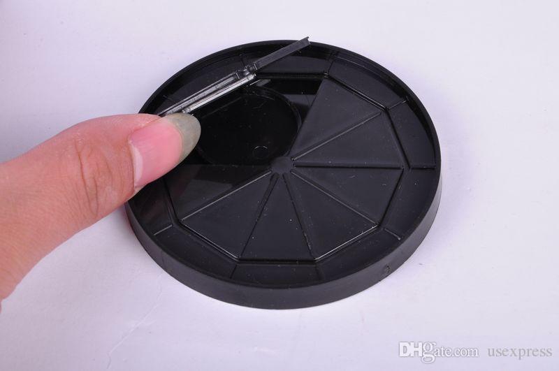 Magic Coin Thru Into Glass Vassoio Close Up Easy Amazing Gimmick Magic Trick Puntelli Natale / party show come regalo divertente