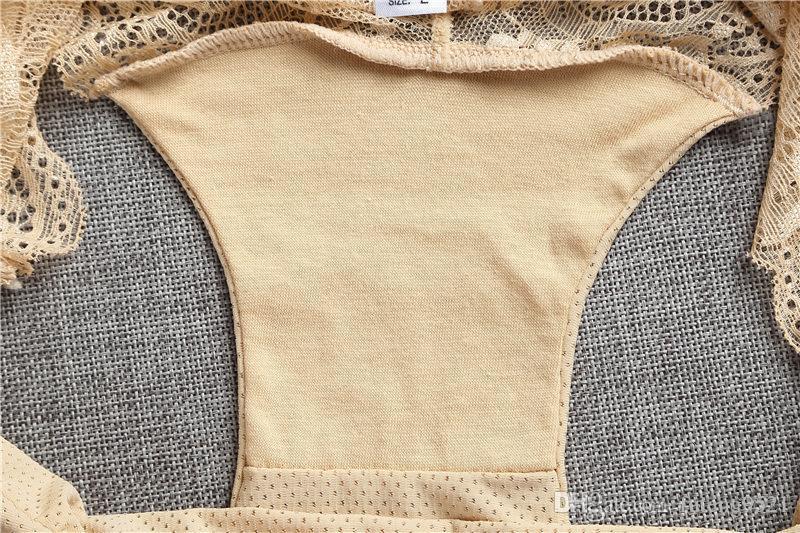 Ice Silkl Underpants Floral Print Nylon Lace Panties Women Seamless Underwear Undies Low Waist Briefs for Female