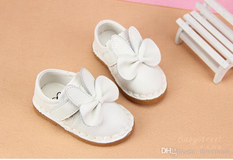 Scarpe da bambina in pelle neonata Scarpe da principessa Big Bow Prewalkers Scarpe con fondo morbido Presepe Vestito da balletto Scarpe in vera pelle