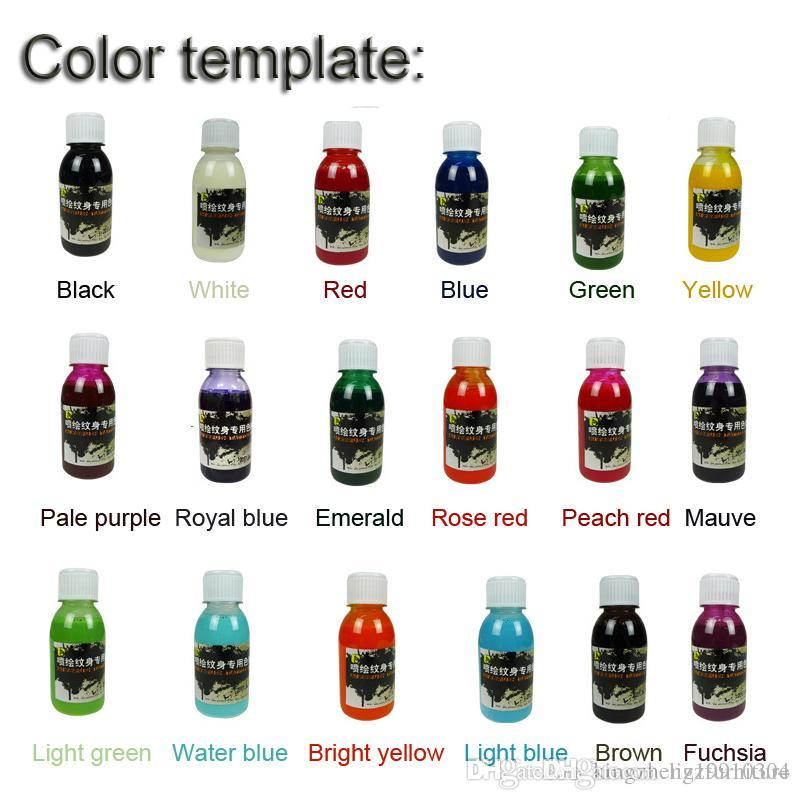 DHL/EMS Golden Phoenix Temporary Airbrush Tattoo Color Ink ...