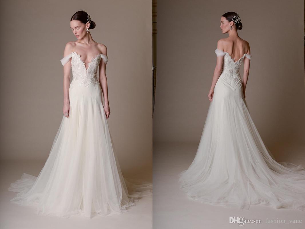 Discount 2017 Marchesa Wedding Dresses Off Shoulder