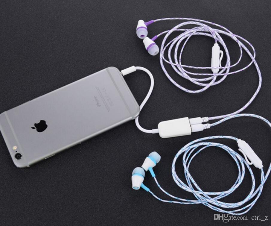 3,5 mm Paare Dual Jack Stecker Kopfhörer Audio Split Adapter Kabel Linie für iPhone iPod Mp3 Mp4