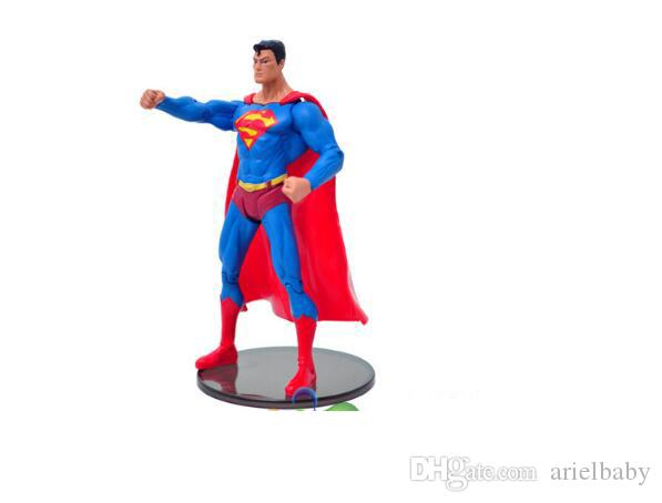 Marvel's The Avengers Superman Batman Universe Heroes Action Figure Toys 18cm With Holder Boy Birthday Gift