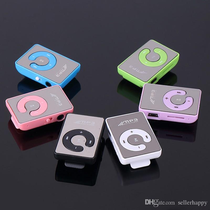 2017 Novo Mini Clipe USB Digital Mp3 Player de Música Esporte MP3 Com Micro SD Slot Para Cartão TF MP3 Player Apenas um jogador sem USB