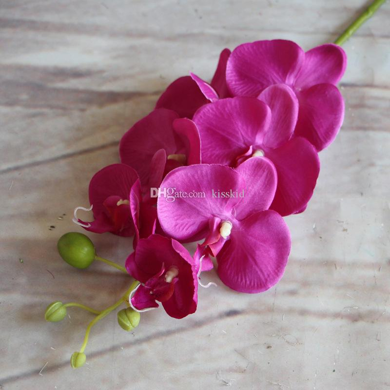 artificielle mite papillon orchidée orchidée fleur phalaenopsis Afficher fausses fleurs salle de mariage décor à la maison 8 couleurs