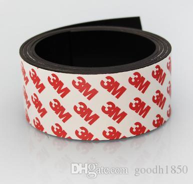 Um pc Tamanho de 1m L * 40mm W * 1.5mm T 3M Fita adesiva magnética, cola magnética, ímã de borracha adesiva