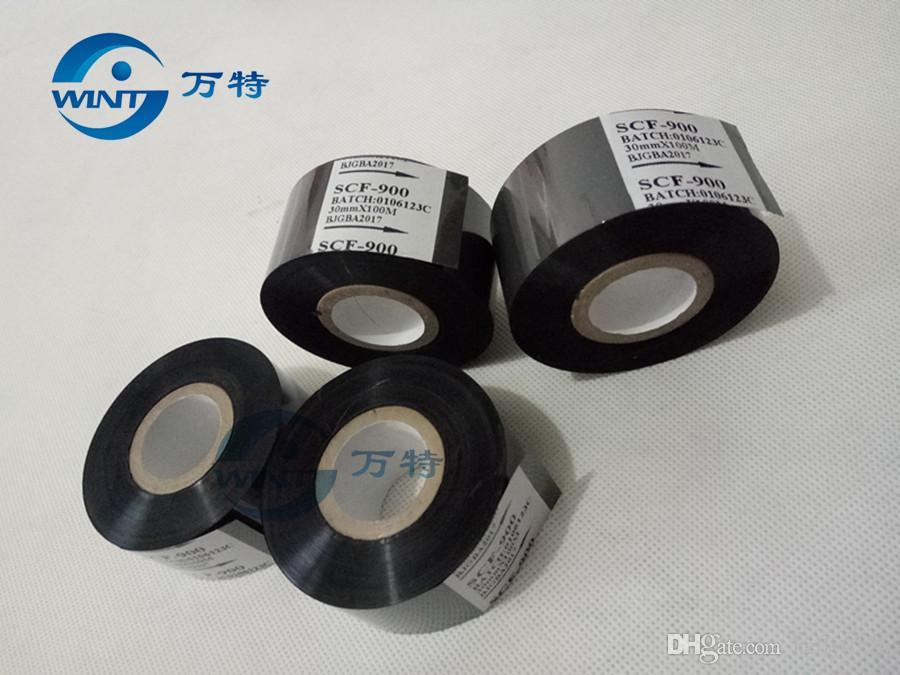 Бесплатная доставка 30 мм*100 м высокое качество черный цвет ленты для даты печати на дата кодер для EXP, MFG, горячей штамповки ленты печати