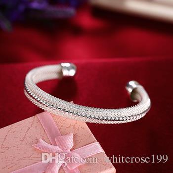 Groothandel - detailhandel laagste prijs kerstcadeau, gratis verzending, nieuwe 925 zilveren mode armband B021