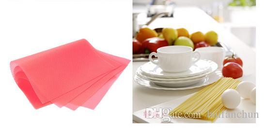 4 pz 29 cm * 45 cm Moda pad frigorifero antibatterico antifouling muffa pad a prova di umidità frigorifero impermeabile stuoie