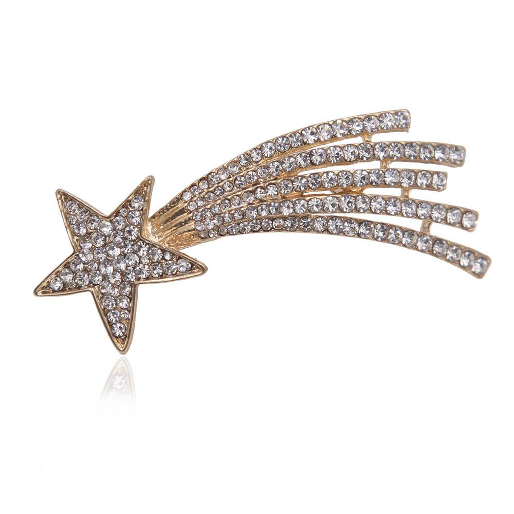 1075b34c2d3 2019 Wholesale Crystal Rhinestone Meteor Brooch Pin Metal Shooting Star  Women Costume Accessory Fashion Jewelry Gift 2017 From Htiancai, $19.99 |  DHgate.Com