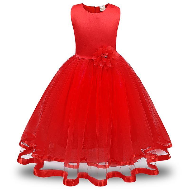 Flower Girls Dresses Children Princess Pageant Formal Wedding Dress Party Kids Clothes Girls Long Dress Bridesmaid Ball Gown