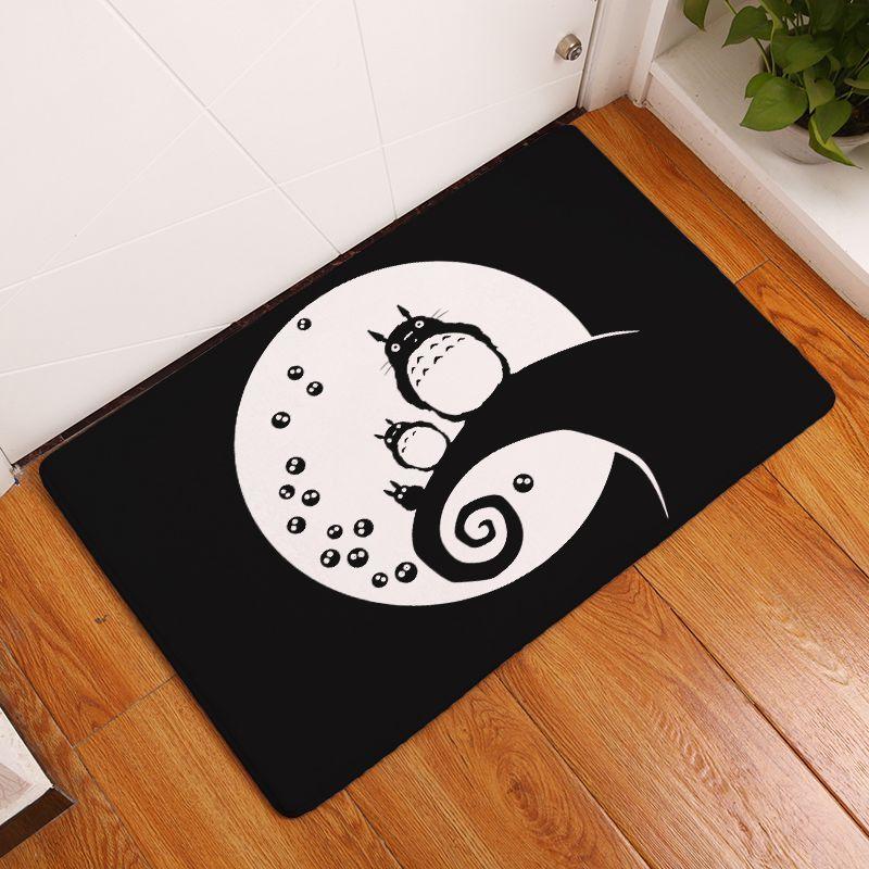 Modern ev dekorasyonu paspas kawaii totoro karşılama paspas kapı giriş halı mutfak banyo halısı komik zemin