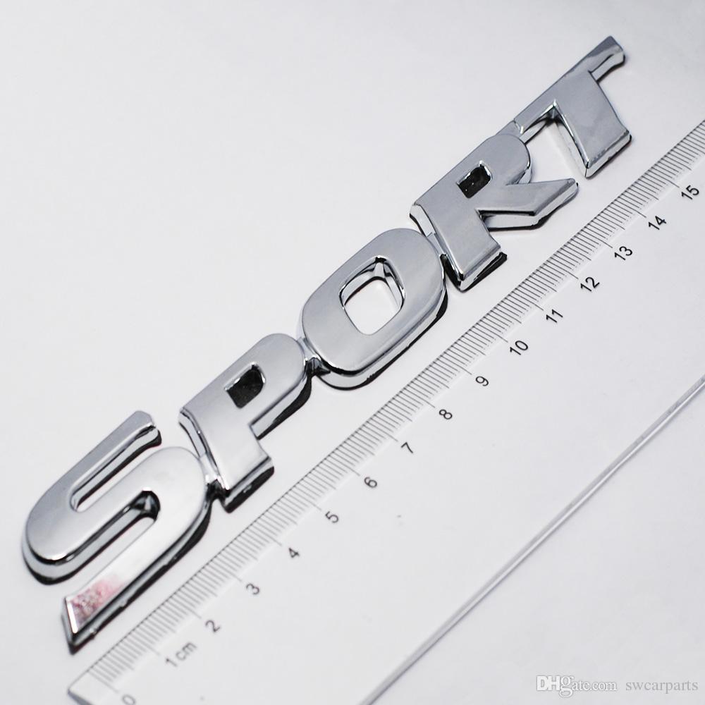 Car Styling 3D ABS Chrome Logo Adesivo Auto SPORT Emblema Badge Porta Decalcomania Accessori Auto Toyota Highlander BMW HONDA VW KIA