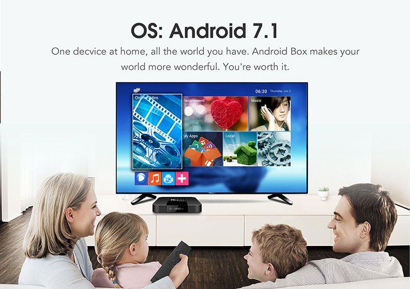TX3 mini Android 7.1 TV BOX da 2 GB 16 GB Amlogic S905W Quad Core Media Box IPTV VS X96 MXQ PRO