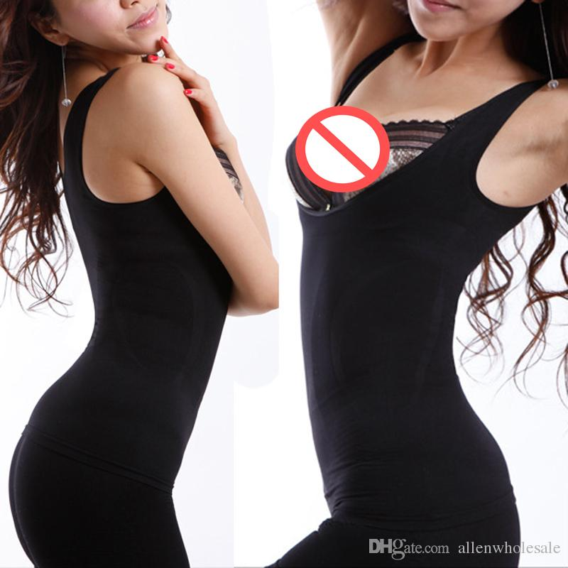 OPP Bag Women Natural Bamboo Slimming Charcoal Suit Underwear Beige/Black