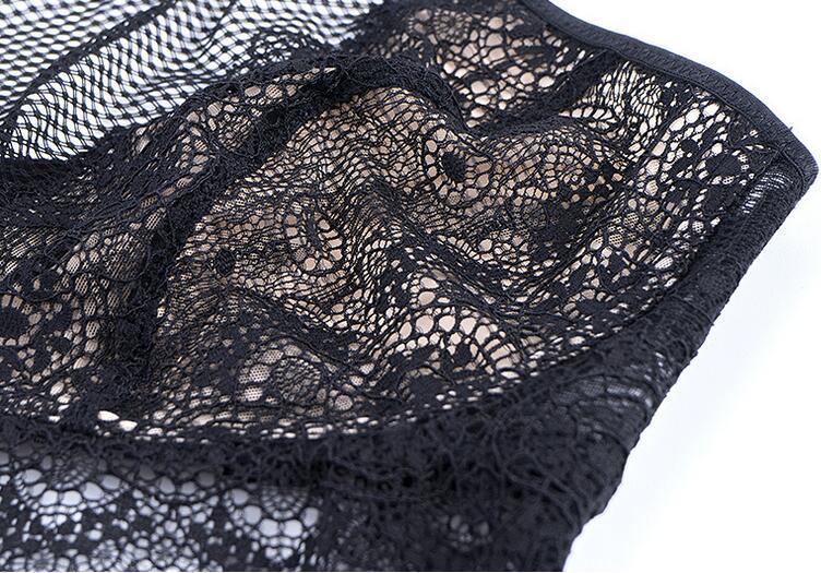 nouvelle fleur sexy dentelle française pendaison cou taille haute soutien-gorge costume européen et américain commerce extérieur sous-vêtements femmes