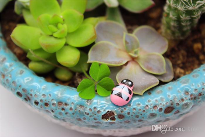 -PACK Madera Amarillo Abeja Insecto Mini Craft Miniatura Jardín de Hadas Decoración Del Hogar Casas Micro Paisajismo Decoración Al Por Mayor Barato DHL / FEDEX