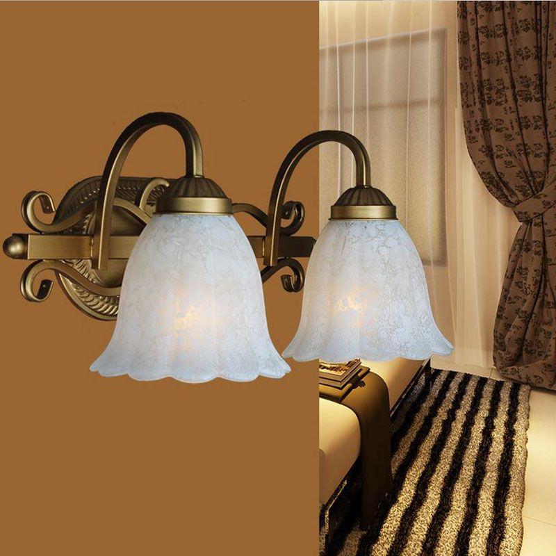 Miroir Double Créatif Couloirs Style Fer Éclairage Hôtel À Têtes Européen Or Feux Murale Trois Tête Avant Américain Lampe eWEH9I2DYb