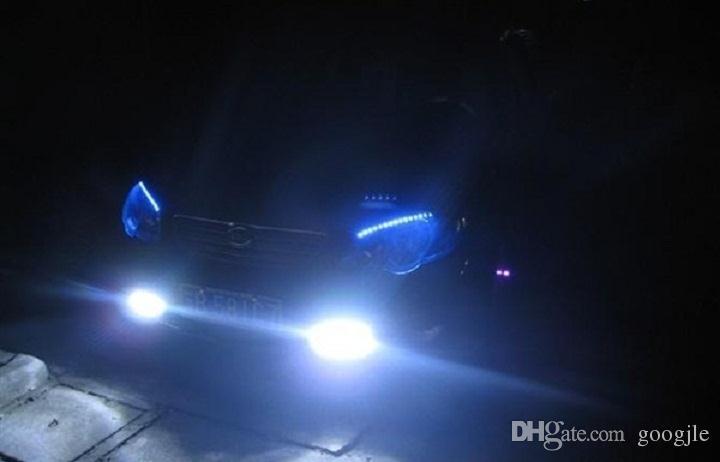 Universal DRL DC 12V 8W 8LED de conducción diurna del coche de la luz corriente niebla de la cabeza de la lámpara blanca estupenda llevada impermeable de color externo Car Styling