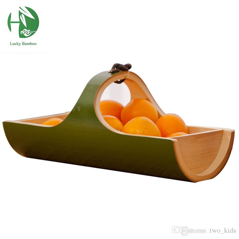 Great Wholesale  Bamboo Storage Trays For Food Eco Friendly Kitchen Tools  Handmade Fruit Decorative Plates Festive U0026 Party Supplies Storage Basket  Storage Trays ...