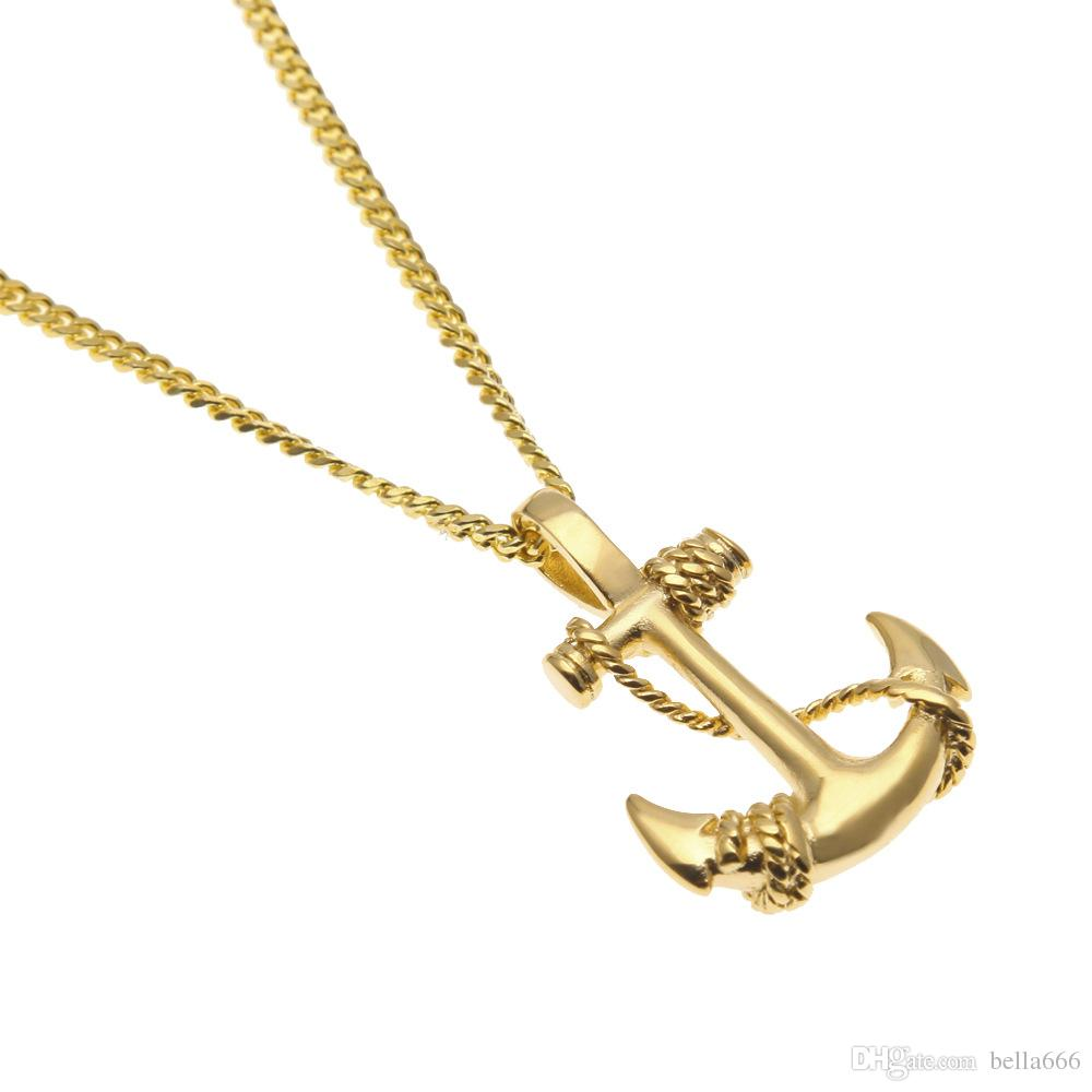 Rope Gold chain with cross for men