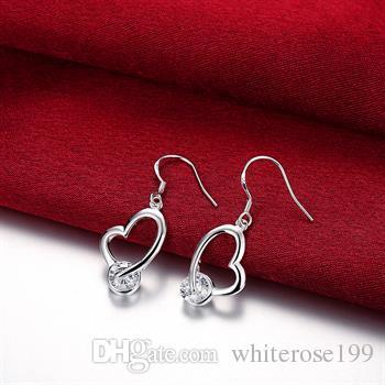 Großhandel - niedrigster Preis Weihnachtsgeschenk 925 Sterling Silber Mode Ohrringe E54