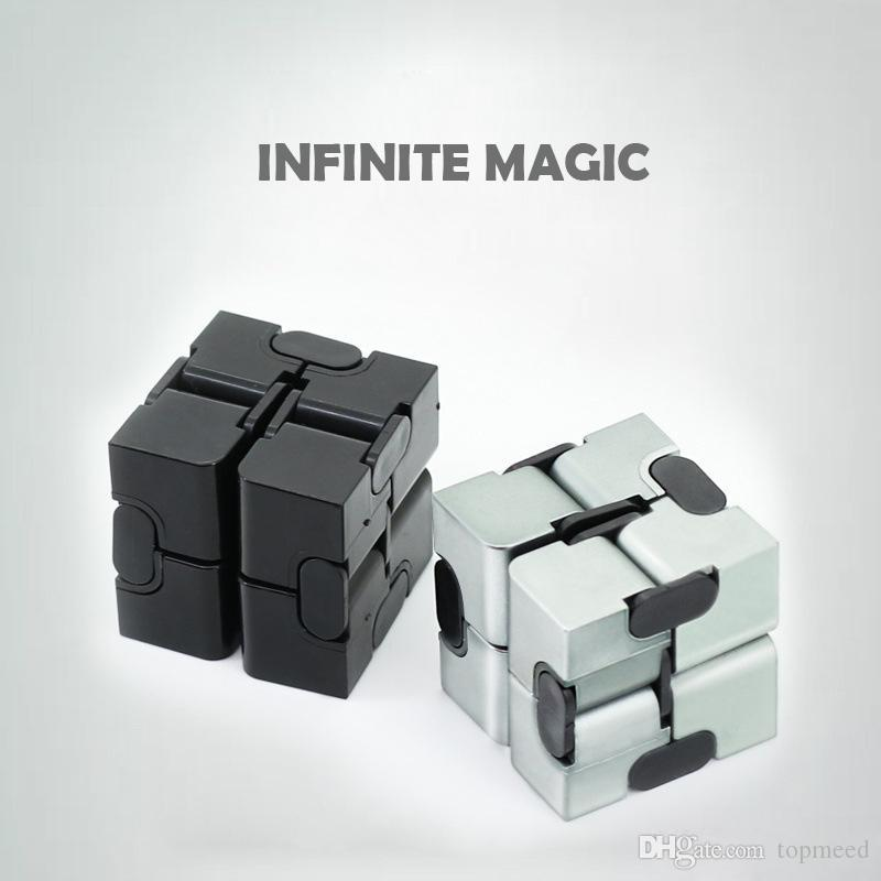 infinity cube. new fidget cube creative infinity vs hand spinner decompression magic square infinite flip rubik\u0027s child toys projection rubik m