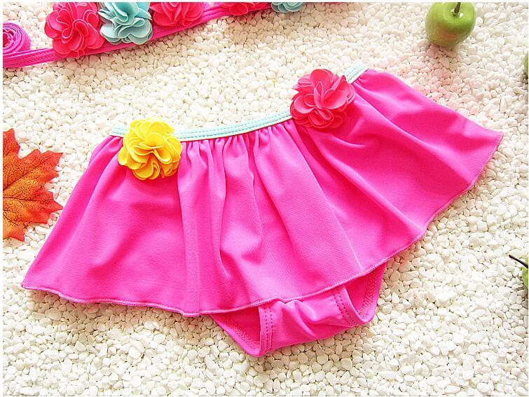 Hot Flower girl bikini swimwear two pieces Swimsuits for children beach clothes free ship