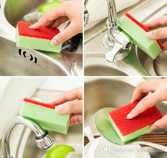 Scouring pad sponge kitchen wash cloth 4g magic wipe household cleaning tools dishes washing helper random colors