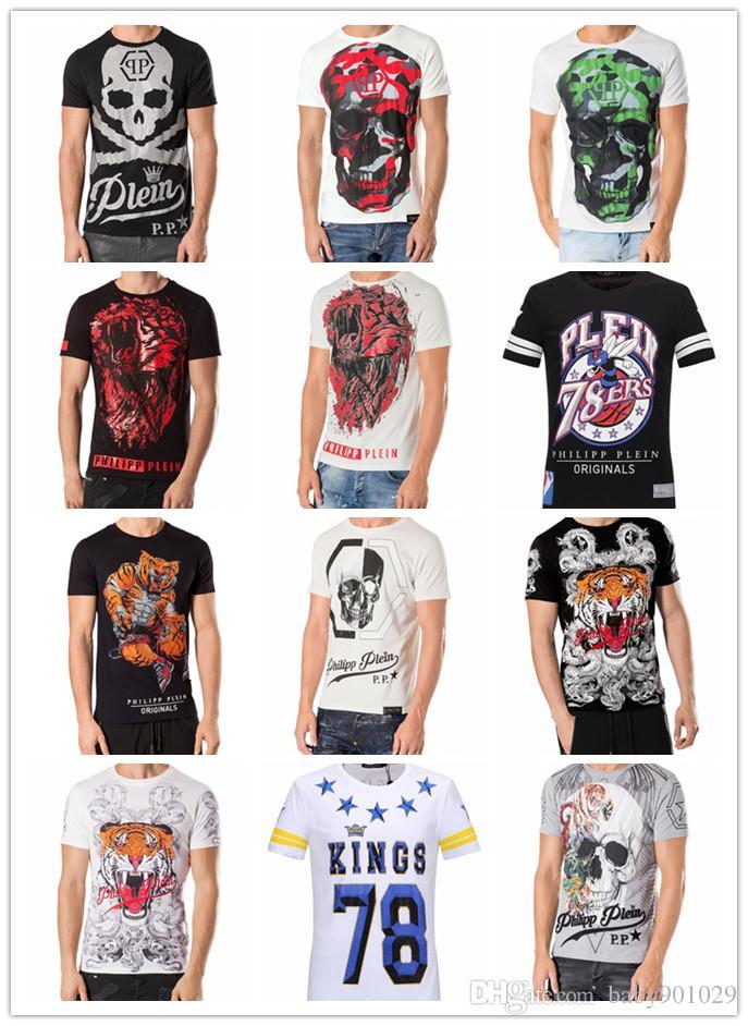 Acheter T Shirt De PHILIPP PLEIN D impression De Haute Qualité De Hip Hop  De Crâne De Crâne De Crâne De T Shirt De Chemise De T Shirt De Chemise D  hommes ... 817ee2621b0f