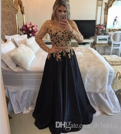 Imagenes de vestidos negro con dorado