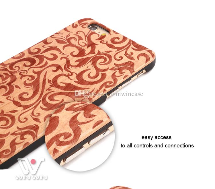 Bamboo panda wood case for iPhone 6 6s 7 8 plus x 5 5s cherry wooden cell phone cover mobile accessory Shenzhen supplier